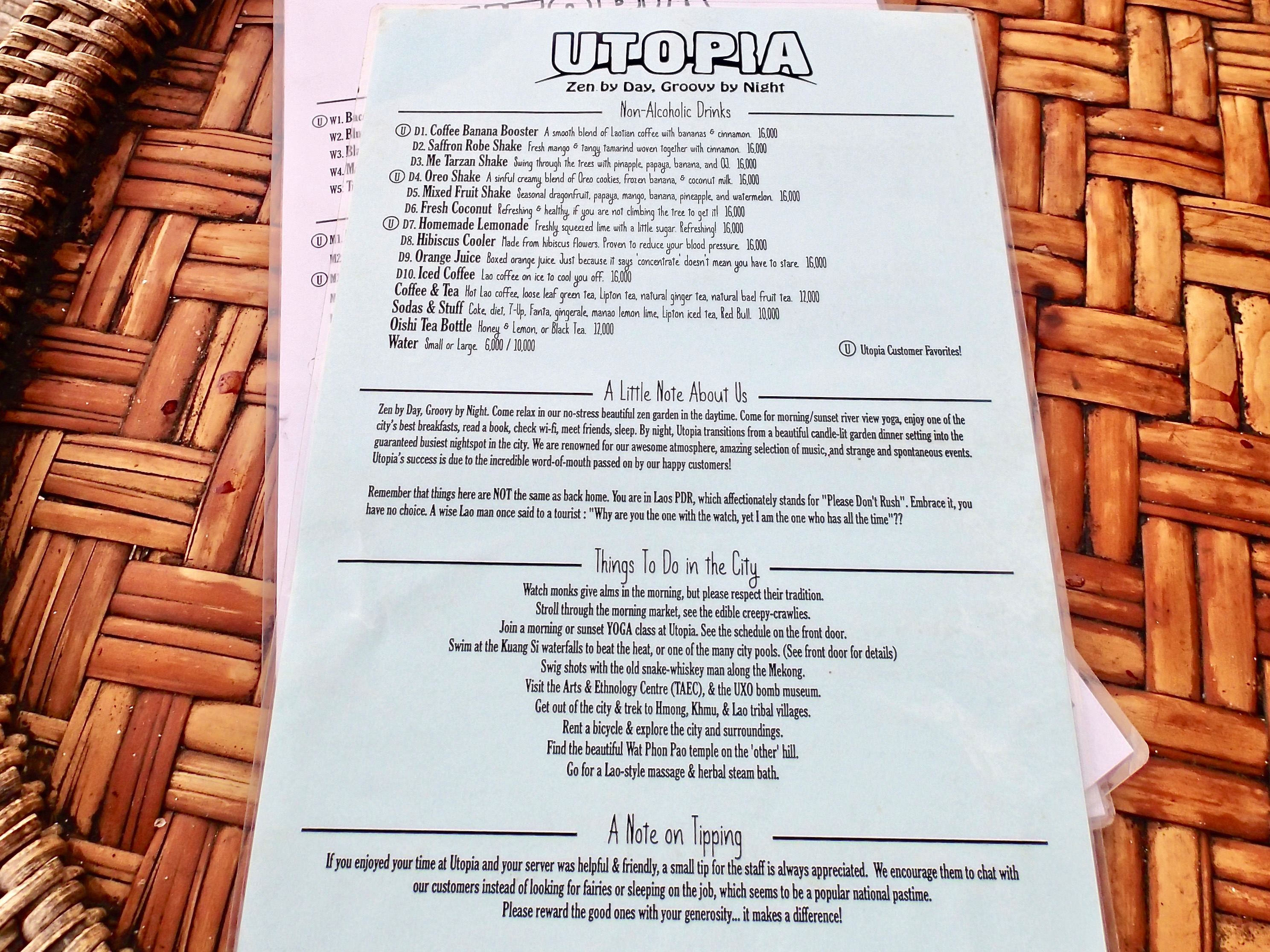 Utopia menu3