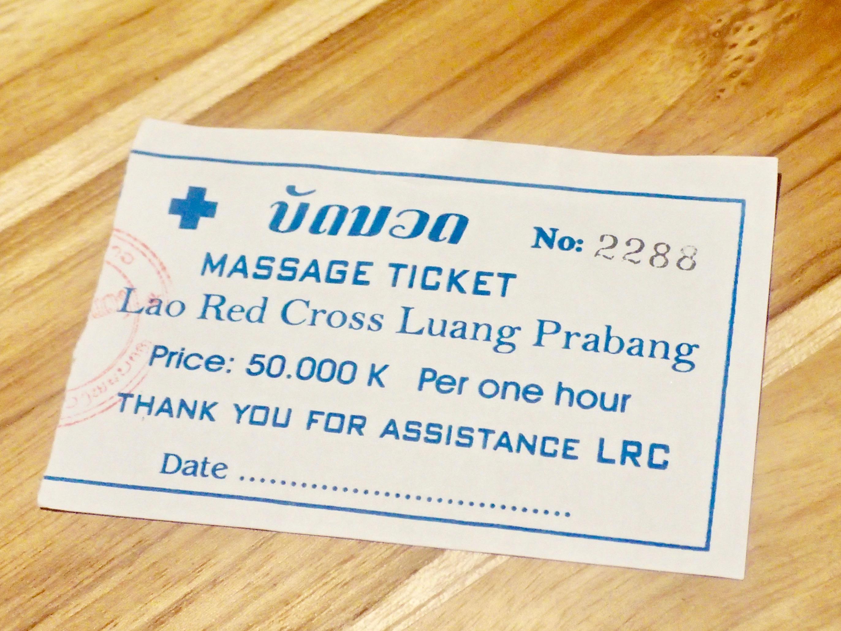 Lao Red Cross ticket2
