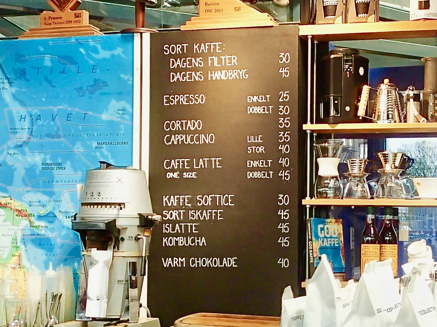 The Coffee Collective menu