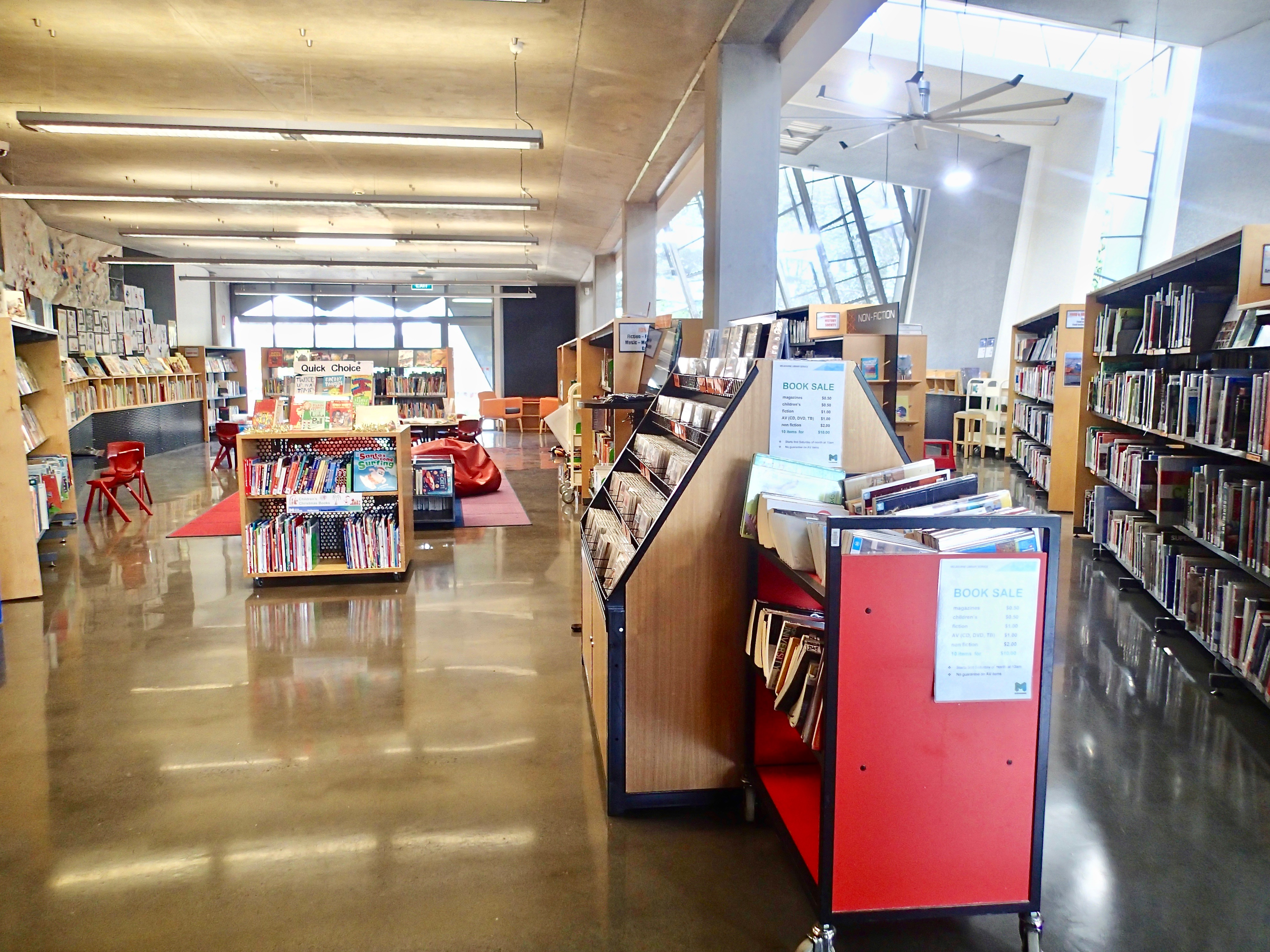 East Melbourne Library inside1