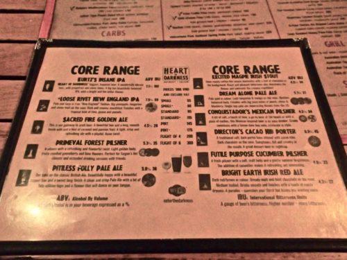 heartofdarkness menu